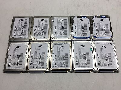 "Lot of 10 320GB 320 GB 2.5"" SATA Mixed Brand Laptop Hard Drives HDD's *TESTED*"