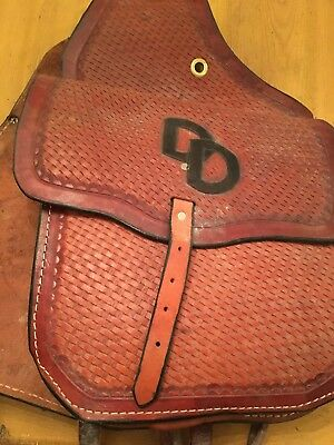 Vintage D. Dascher W Nevada Leather Brown Saddle Bags