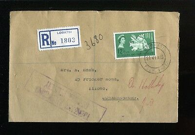 Bechuanaland QEII 1963 FFH SG182  registered cover (not FDC) attempted delivery