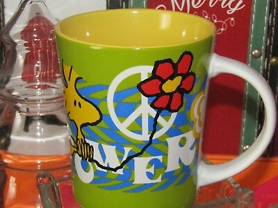 Peanuts Gang ~ Woodstock  ~ 'Flower Power' ~ Coffee/Tea Mug NEW!