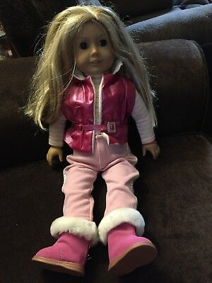 """American Girl Doll Pleasant Company Kailey 18"""" Blonde Hair Brown Eyes W Clothes"""