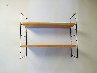 DANISH MODERN STRING WALL LADDER SHELF MODULAR BOOKSHELF SHELVING TEAK 50s 60s