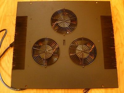 24U Middle Atlantic Security Enclosure Cabinet Top 3-Fan Thermostatic Controlled
