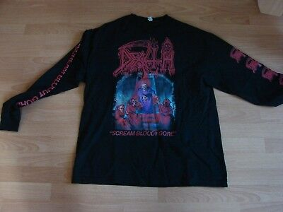 ca7aef03feaca1 DEATH  SCREAM BLOODY Gore  (White) Long Sleeve Shirt - Ultrakult ...