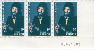 Camaron De La Isla - Limited Edition Block Of 3 Mail Stamps / Spain 1996