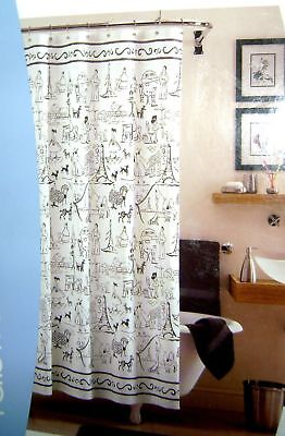 Scenic Paris HOME Brand 100 Cotton Duck Cloth Shower Curtain 70