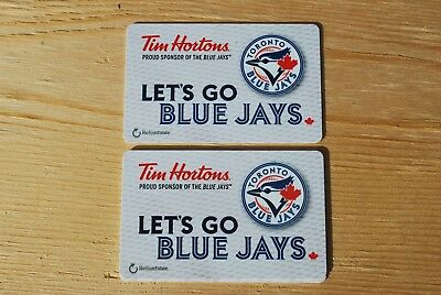 Tim Hortons Gift Card / No Value / Unused New  Lot Of 2 Blue Jays