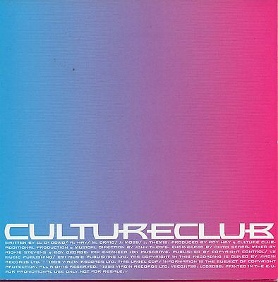 """Culture Club """"Your Kisses Are Charity"""" Promo Cd Single / Boy George"""