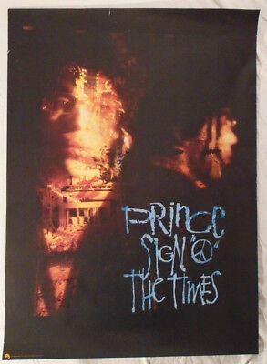 Prince 1987 Promo Poster Sign O The Times