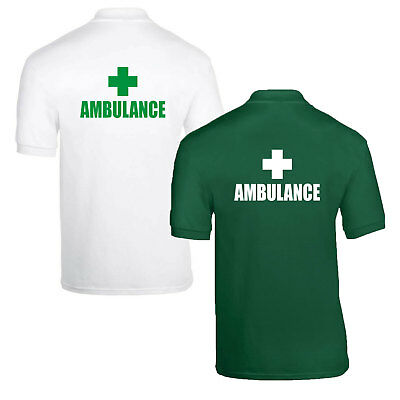 Medic First Aid Paramedic Doctor Responder Nurse Polo Shirts Choice of 1 or 2