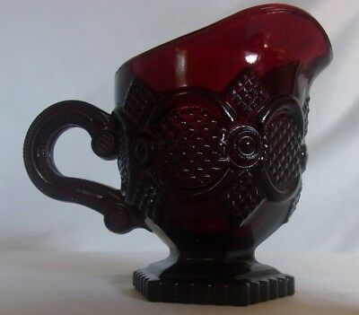 Avon 1876 Cape Cod Collection Creamer- Ruby Red - 4 inch - New in Box