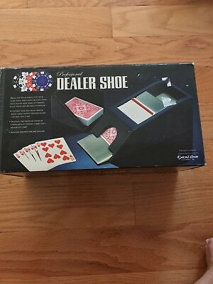 Excalibur Professional 4 Deck Dealer Shoe~2 Decks Included~Casino Card Games