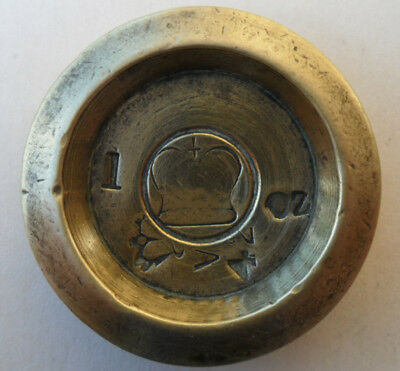 Antique Victorian Brass Weight - 1 oz Kincardine County