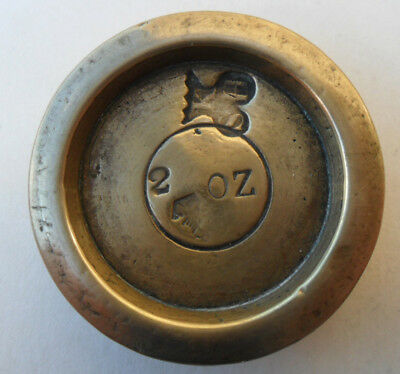 Antique Victorian Brass Weight - 2 oz Kincardine County / Birmingham ?