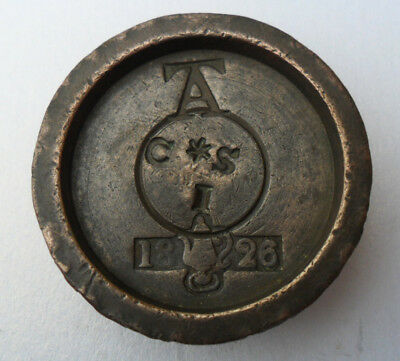 Antique Georgian Bronze Weight - 2 oz - Later VR County of Southampton