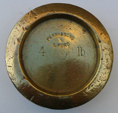 Vintage Brass Weight - 4 lb Perry & Sons, ILFORD
