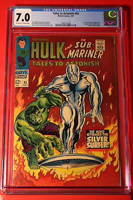 Tales To Astonish #93 Cgc 7.0 Incredible Hulk Silver Sufer Marvel Spider-Man Age