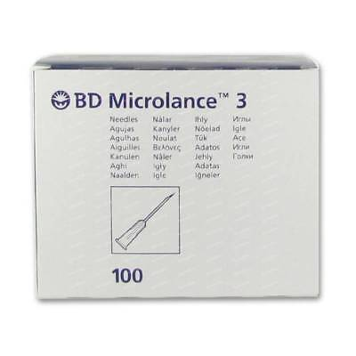 "BD Microlance™ 3 STERILE HYPODERMIC 100 NEEDLES INJECTION ORANGE 25G 1"" 0,5x25mm"
