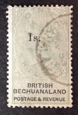 British Bechuanaland Protectorate 1888 1s On 1 Shilling Green & Black Vfu