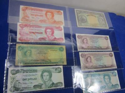 Lot of 8 Bahamas Government Paper Money Various Notes   A16