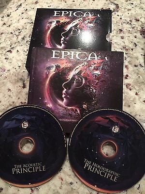 the holographic principle EPICA  HARDCOVER DIJIBOOK 2 CD SET ( FREE SHIPPING)