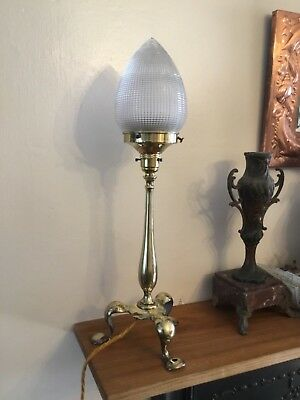 Art Deco Nouveau Faraday & Sons brass Pullman desk table lamp Benson style