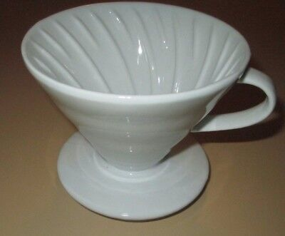 Not Melitta but Similar Coffee Drip Cone White Porcelain One Hole Filter maker