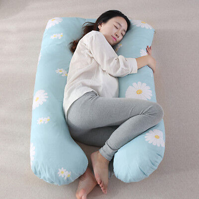Soft Cotton Pregnancy Pillow Case Maternity Nursing Pillow Back Body Support