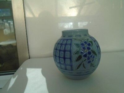 lovely French Gres D Alsace ginger jar   signed by artist   TAKE A LOOK