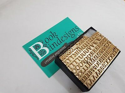 Bookbinding Tools Brass Type 18pt Goudy Old Style Type High 8pt-36 Pt also avail