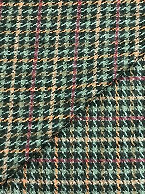 "Italian Wool Dogtooth Check 150cm 60"" Fashion/Coating Fabric Material per Meter"