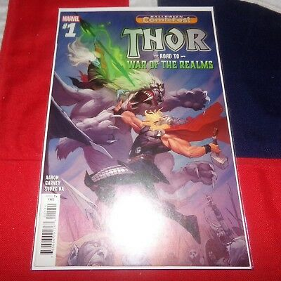 The Mighty Thor Road to War of the Realms #1 Halloween ComicFest Marvel Comics