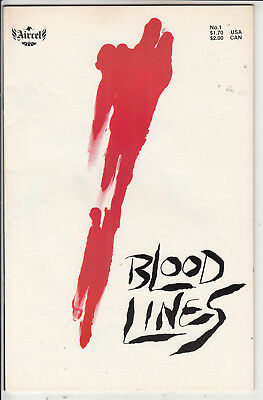 BLOOD LINES  V1 #1  VF/VF+ by AIRCEL 1987  COMICS AMERICAN COMIC
