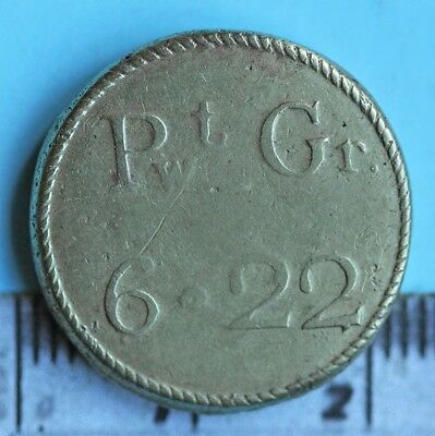 Coin weight for checking a gold moidore, 27 shillings