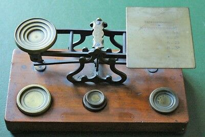Victorian postal scale and weights, Sampson Mordan