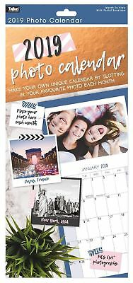 """2019 Insert Your Own Photos Each Month Slim Calendar New Year  Fits 6 x 4"""""""