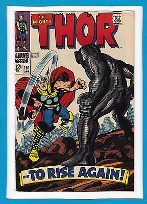"Mighty Thor #151_April 1968_Fine_Destroyer_""...to Rise Again""_Silver Age Marvel!"