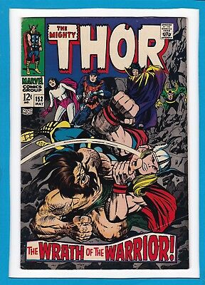 "Mighty Thor #152_May 1968_Very Fine Minus_""wrath Of The Warrior""_Silver Age!"