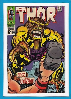 "Mighty Thor #155_Aug 1968_Very Fine Minus_""now Ends...the Universe""_Silver Age!"