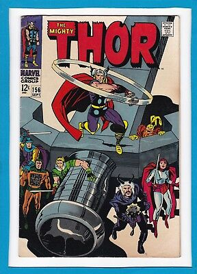 Mighty Thor #156_September 1968_Fine_Balder The Brave_Lady Sif_Warriors Three!
