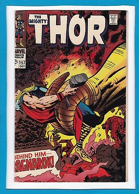 "Mighty Thor #157_Oct 1968_Very Fine_""behind Him...ragnarok""_Silver Age Marvel!"