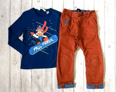 5 6 Years Paul Frank Next Xmas Jumper Top Arc Chinos Boys Trendy Clothes Bundle