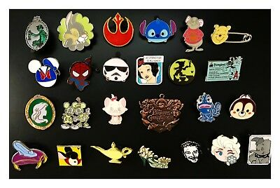 Bundle Lot of 25 Disney Trading Pins, NO Duplicates, Perfect for Trading at Park