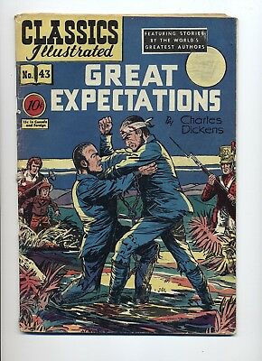Classics Illustrated #43 Great Expectations Good+ Original Centerfold Detached