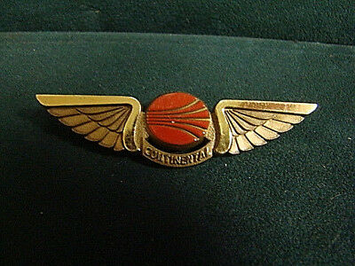 Continental Airlines (Stoffel Seals) Plastic Pilot Wings Pin