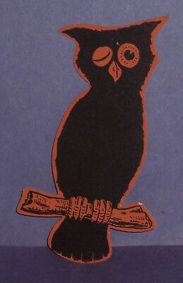 1920's Vintage Halloween  Great Looking Owl Diecut Believe Could Be By Whitney