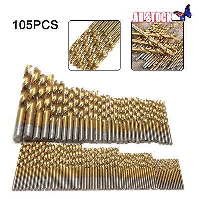 105pcs Drill Bits Set for Stainless Steel Metal HSS-Co Cobalt Bit Titanium New