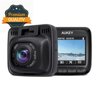 AUKEY Dash Cam Full HD 1080P Car Camera 6-Lane 170° Wide Angle,...