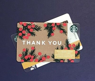 """2018 Holiday """"THANK YOU"""" Starbucks Gift Card NO VALUE"""