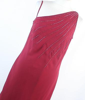 Bharat Evenings Womens Size 10 Red Plain Dress (Regular)